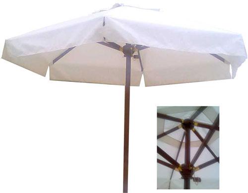 Градиснки дървени чадъри - кръгла